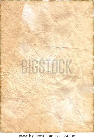Vintage isolated old retro ripped paper to background