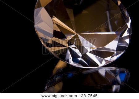 Big Diamond, On Black With Reflection