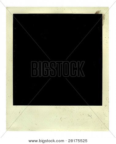 Vintage empy photo with ingerprint isolated on a white