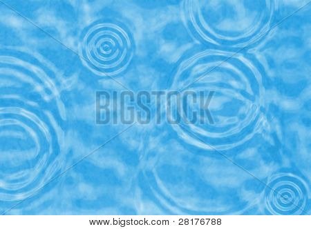 Abstract cyan water ripple to background