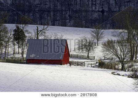 Kentucky Farm After Snow