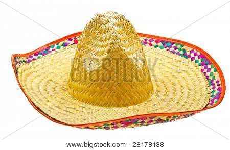 Sombrero isolated on white background
