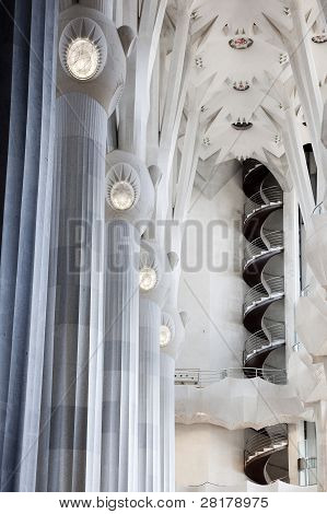 Interior Of The Sagrada Familia Cathedral