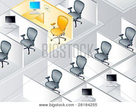 Büro Kabine Zeilen mit der besonderen ein Konzept