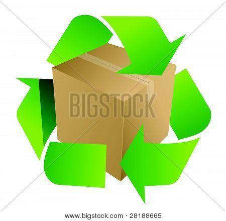 box recycle symbol illustration design on white