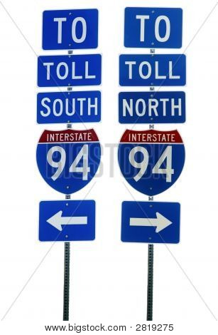 Interstate 94 Road Sign