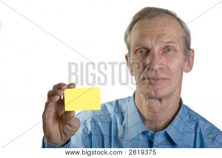 Elderly Man With Credit Card