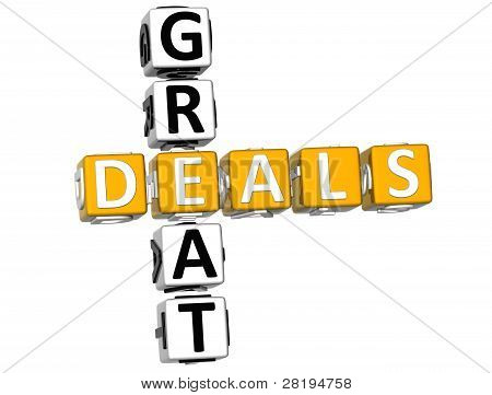 3D Great Deals Crossword