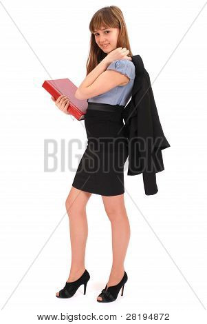 Girl Holds The Red Book