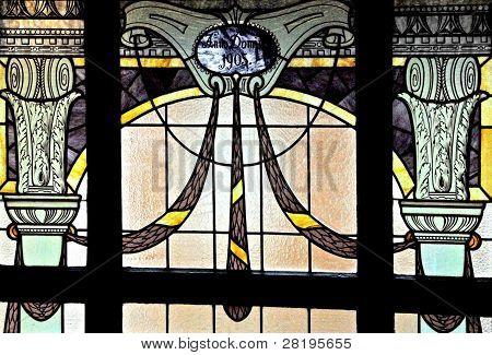 Historical Art Nouveau windows