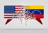 Venezuela United States Conflict And Diplomatic Crisis Or Venezuelan Political Situation As Uncertai poster