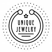 Unique Bracelet Jewelry Logo. Outline Unique Bracelet Jewelry Vector Logo For Web Design Isolated On poster