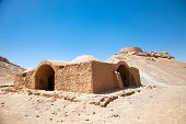 stock photo of zoroaster  - Ruins of Zoroastrian Towers of Silence in Yazd - JPG