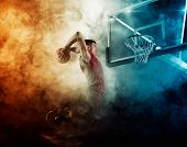 Basketball player. Basketball concept poster