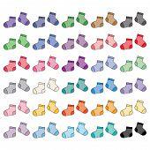 Baby Socks, Set Of Multicolored Baby Socks poster