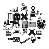 World Globalization Icons Set. Simple Set Of 25 World Globalization Icons For Web Isolated On White  poster