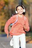 Active Lifestyle Music Play List. Music Always With Me. Girl Cute Child With Headphones. Reasons You poster
