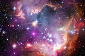 Awesome Colorful Nebula Somewhere In Endless Universe. Elements Of This Image Furnished By Nasa poster