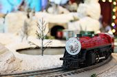 foto of train-wheel  - Miniature train in Santa - JPG