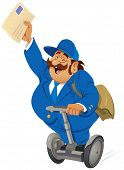foto of telegram  - The postrider with his letters - JPG