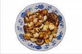 pic of devilfish  - octopus galician style pulpo a la gallega spanish tapas dish - JPG