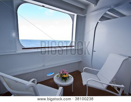 Cruise Ship Balcony.