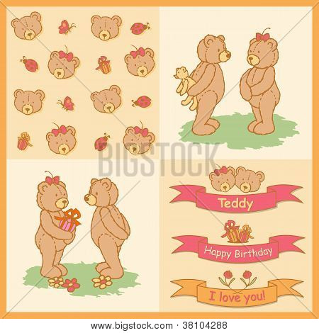 Drawn teddy bears gifts