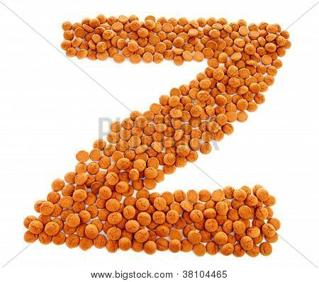 Ginger Nuts, Pepernoten, In The Shape Of Letter Z