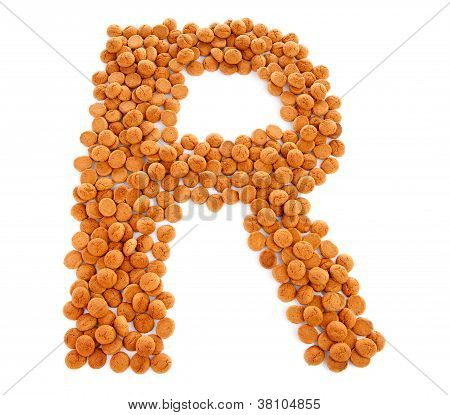 Ginger Nuts, Pepernoten, In The Shape Of Letter R