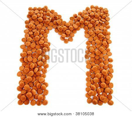 Ginger Nuts, Pepernoten, In The Shape Of Letter M