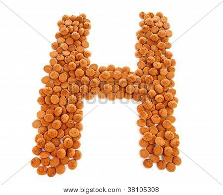 Ginger Nuts, Pepernoten, In The Shape Of Letter H