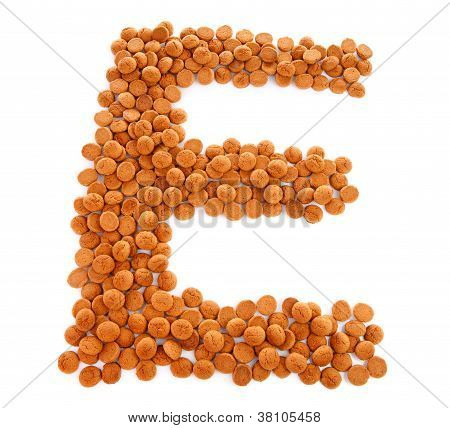 Ginger Nuts, Pepernoten, In The Shape Of Letter E