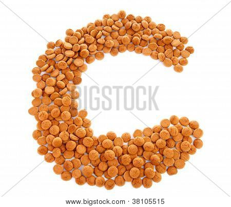 Ginger Nuts, Pepernoten, In The Shape Of Letter C