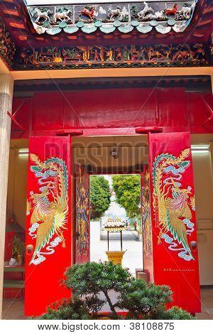 Red Doors Tin Hau Temple,sea Godess, Stanley, Hong Kong