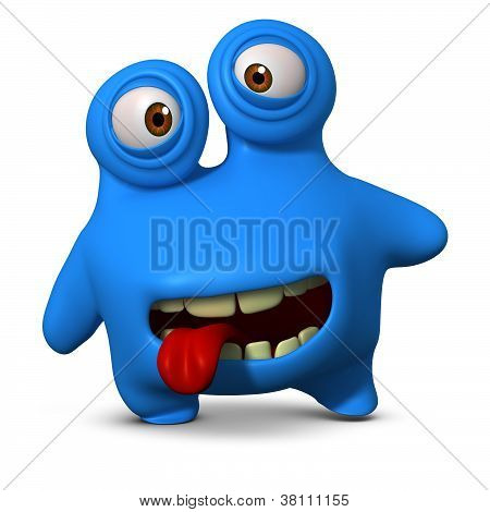 Crazy Blue Monster