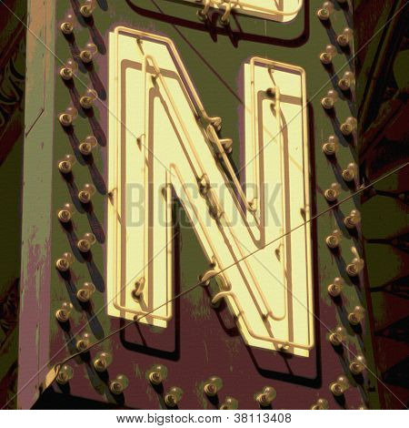 Painting Of The Letters N