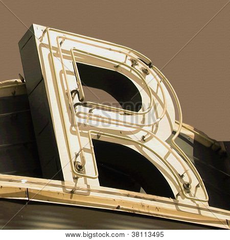 Painting Of The Letters R