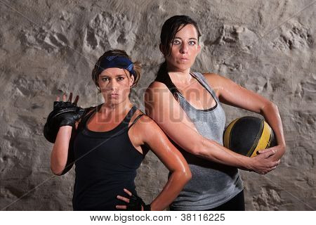 Boot Camp Traning Women Holding Equipment