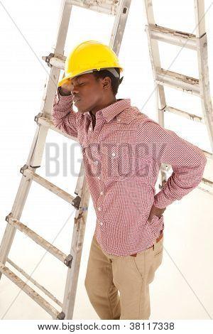 Hard Hat Ladder