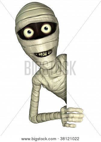 3 d cartoon cute halloween egyptian mummy