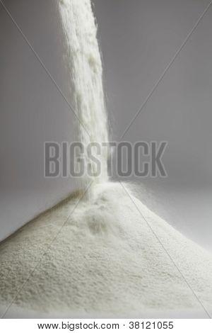 Caída de leche en polvo