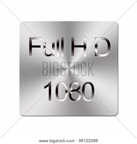 Metal Full Hd Button.