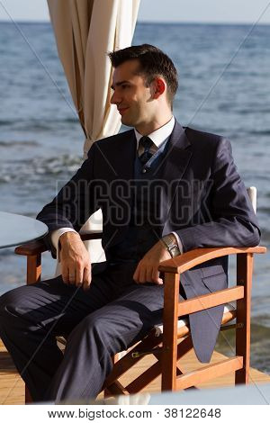 Young Man In Expensive Suit