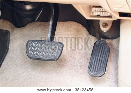Brake Pedal And Accelerator