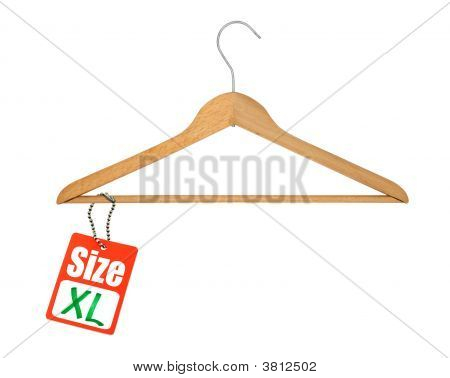 Coat Hanger And Xl Size Tag