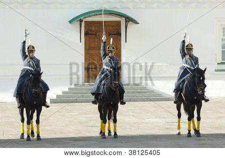 Presidential Guards On A Horses