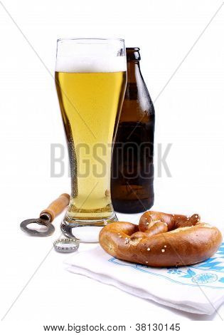 Lager In Glass With Bottle Opener