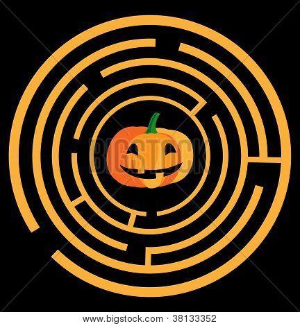 Maze With Pumpkin