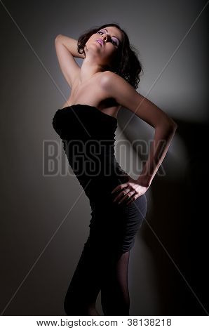 Girl In Black Gress Dance