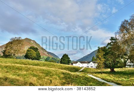 Helm Crag viewed from Grasmere, on a summers day.